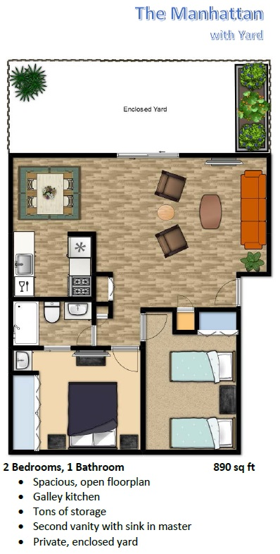 Flats at Sky Village One Bedroom Unit