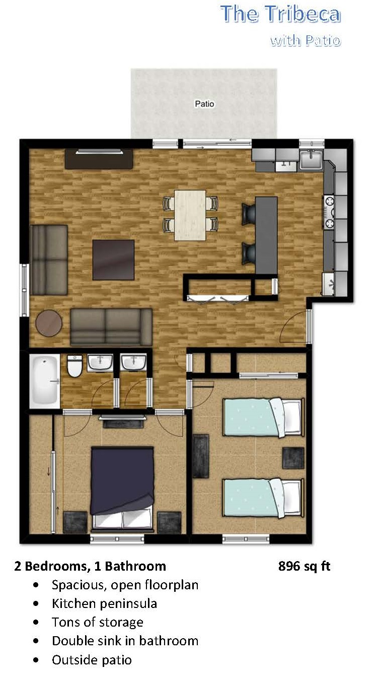 Flats at Sky Village Two Bedroom Unit